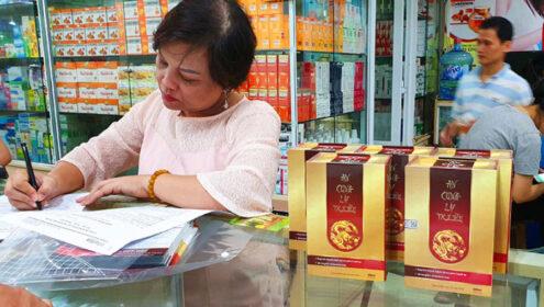 Sản phẩm An Cung Lý Triều được phân phối tại chợ thuốc Hapulico Hà Nội
