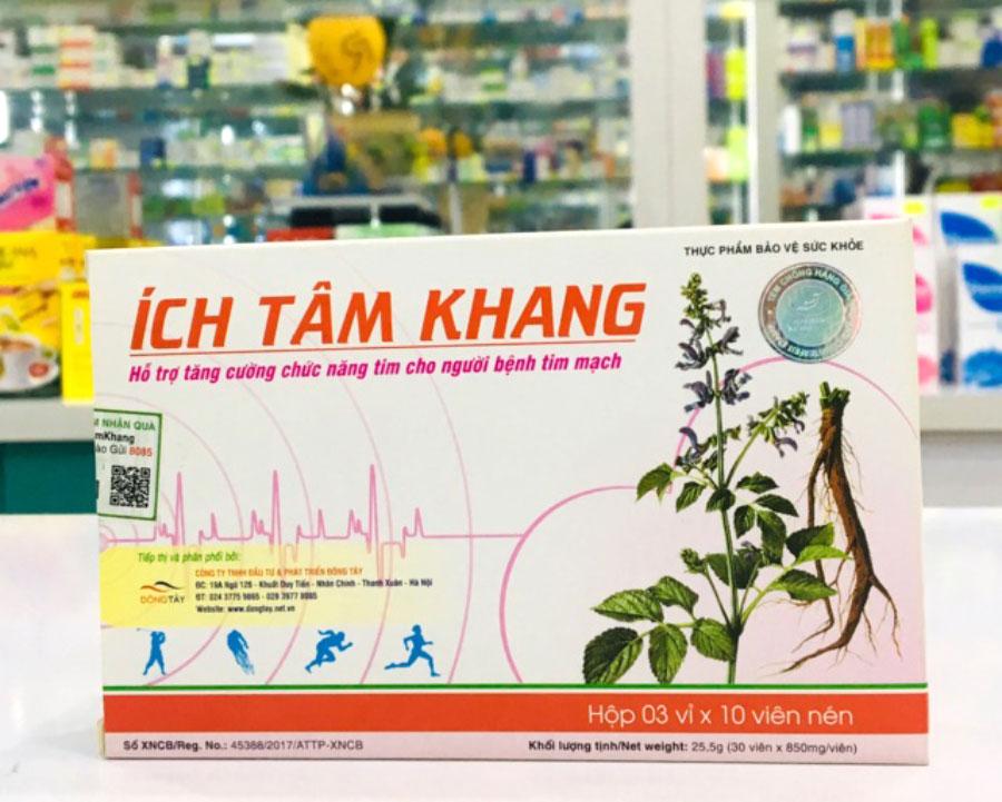 Hình ảnh sản phẩm Ích Tâm Khang đang có bán trên các nhà thuốc